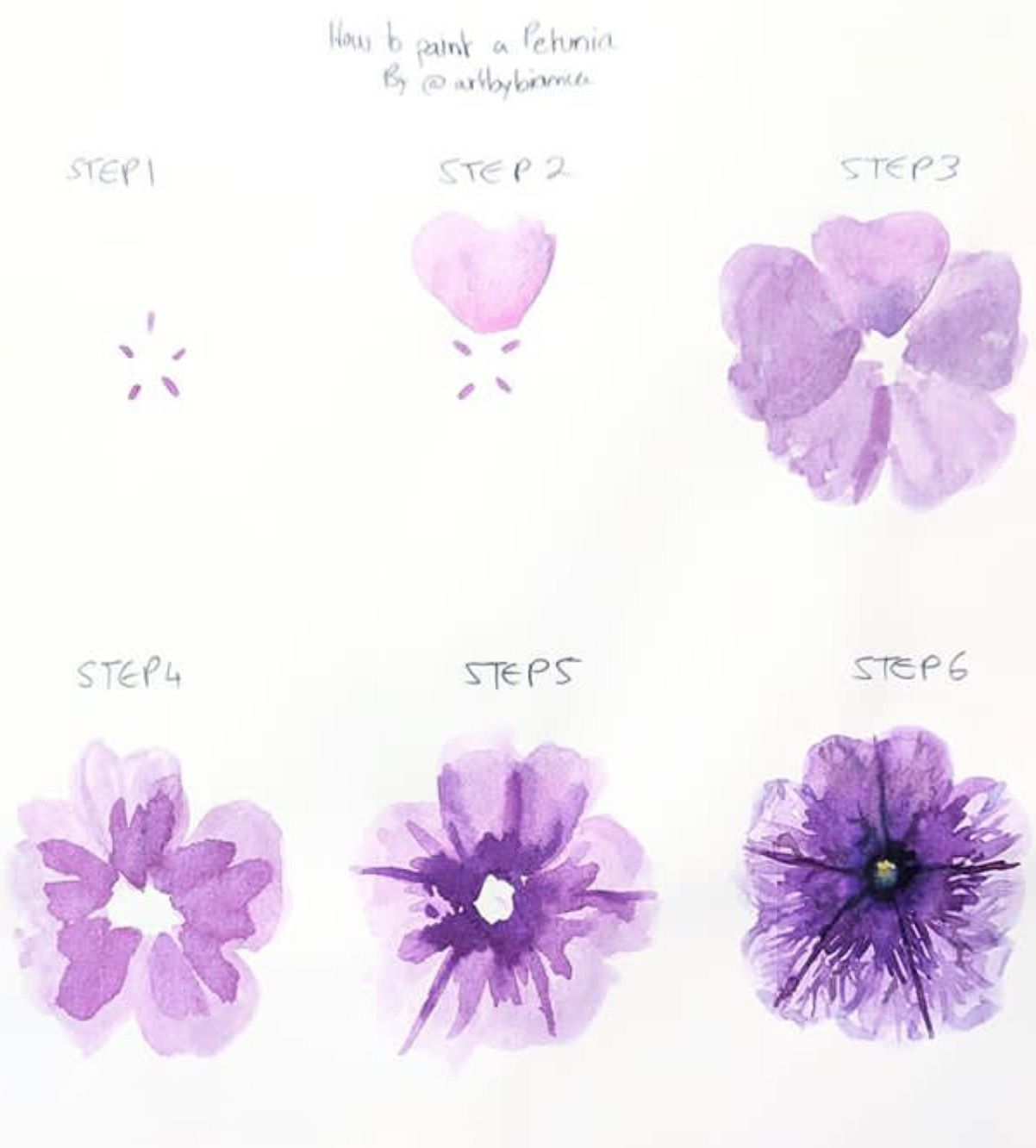 Watercolor Flowers Tutorial By Veronica Navarro On Diy