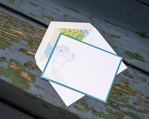 Mermaid Personalized Notecards | Bee inspired Handmade – Bee Inspired Handmade Wares