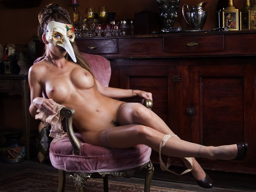 Masquerade Lesbian Pornstar Party