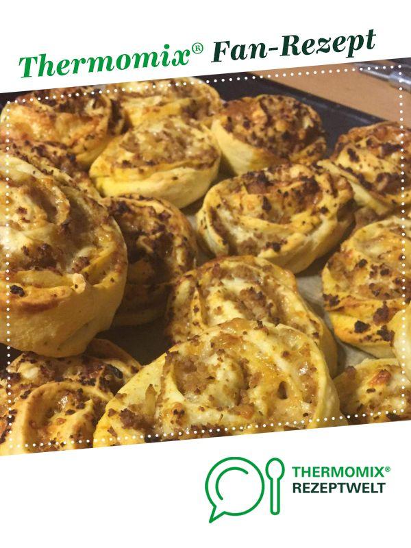Pizzabrot Thermomix hackfleisch pizza schnecken receta