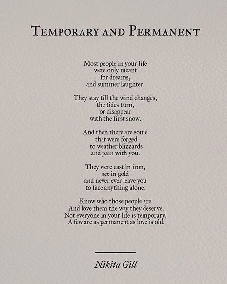 Not everyone is temporary