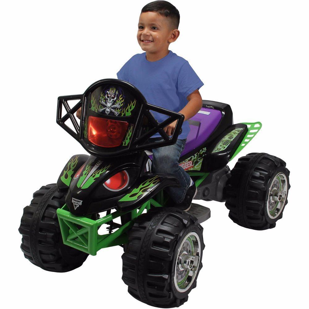 Monster Jam Grave Digger Quad Power Wheels 12v Ride ...