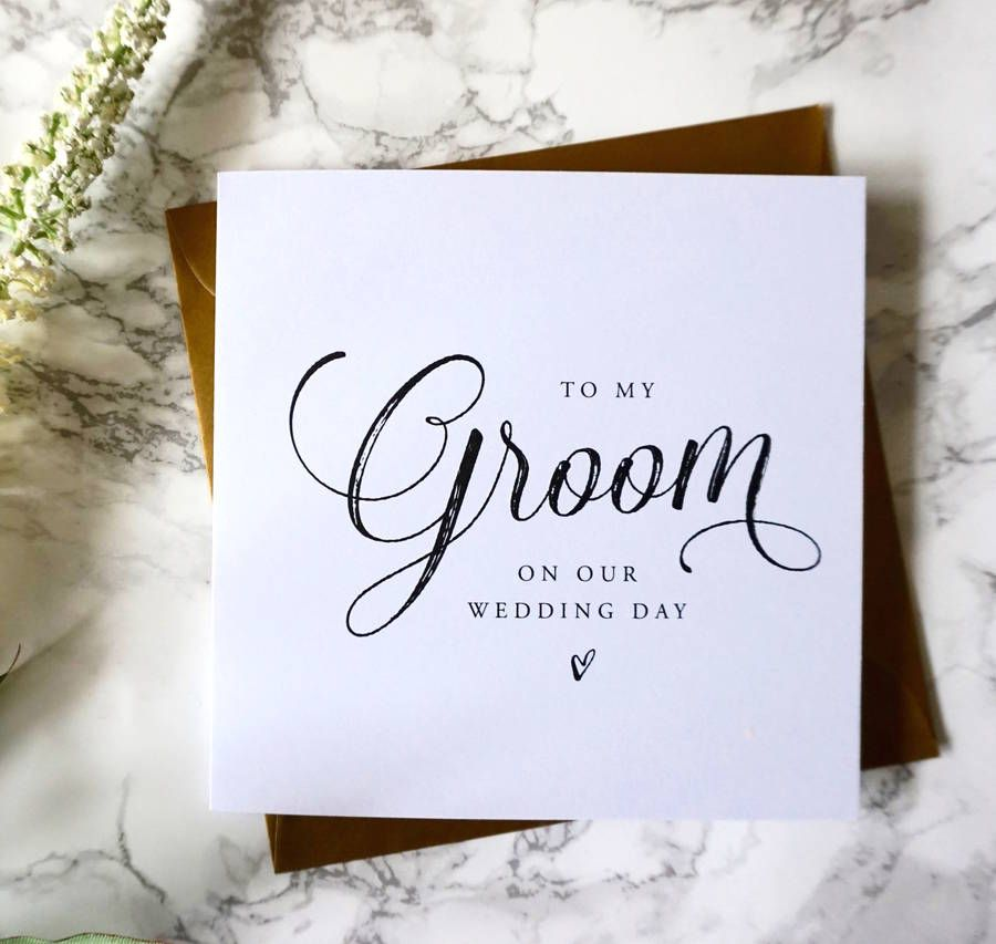To My Groom Wedding Card In 2018 Bridesmaid Cards Pinterest