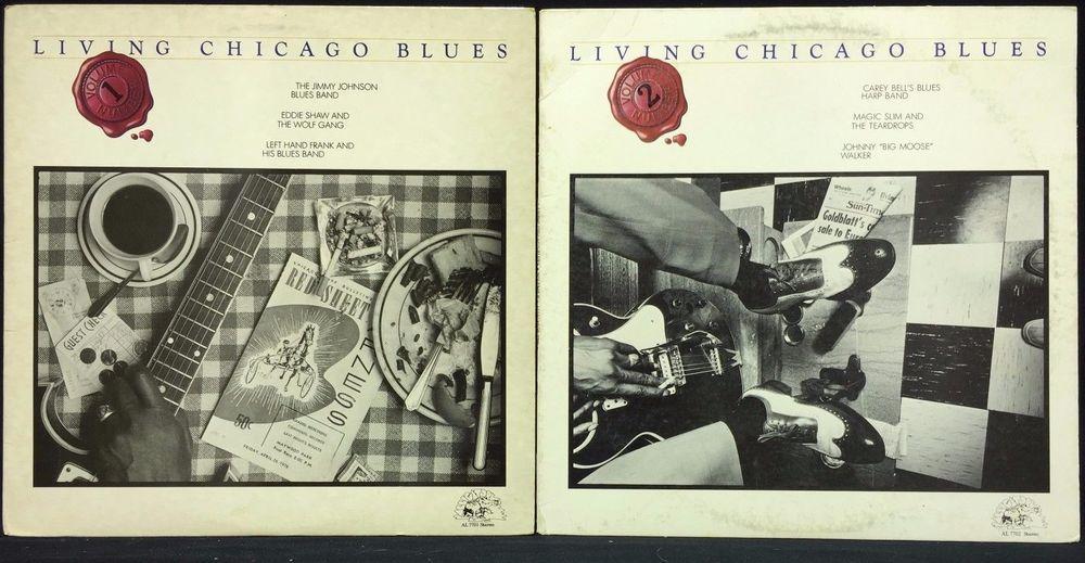 Living Chicago Blues Volume 1 Vol 2 Alligator Records Lp Vinyl Record Lot Vinyl Records Lp Vinyl Vinyl