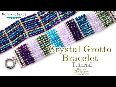 Photo of Crystal Grotto Bracelet – DIY Jewelry Making Tutorial by PotomacBeads