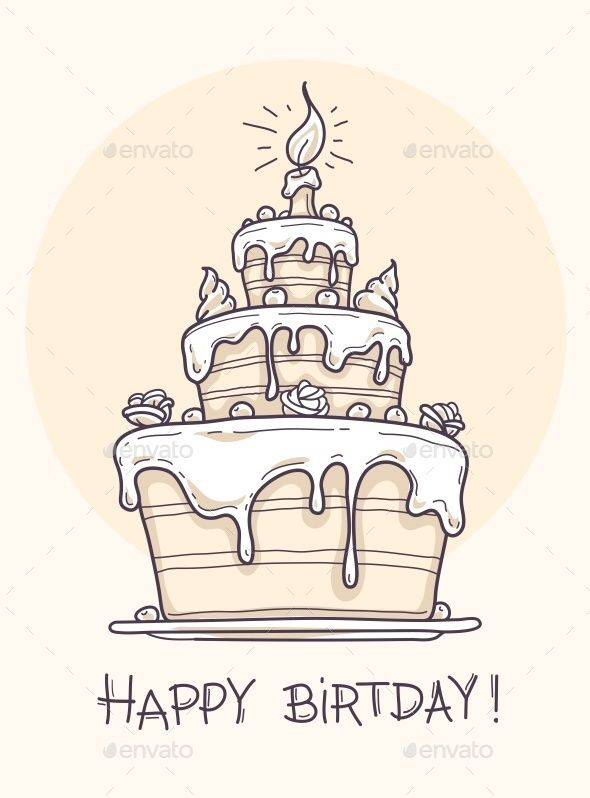 Cool Greeting Card With Big Birthday Cake Cake Drawing Big Birthday Funny Birthday Cards Online Fluifree Goldxyz