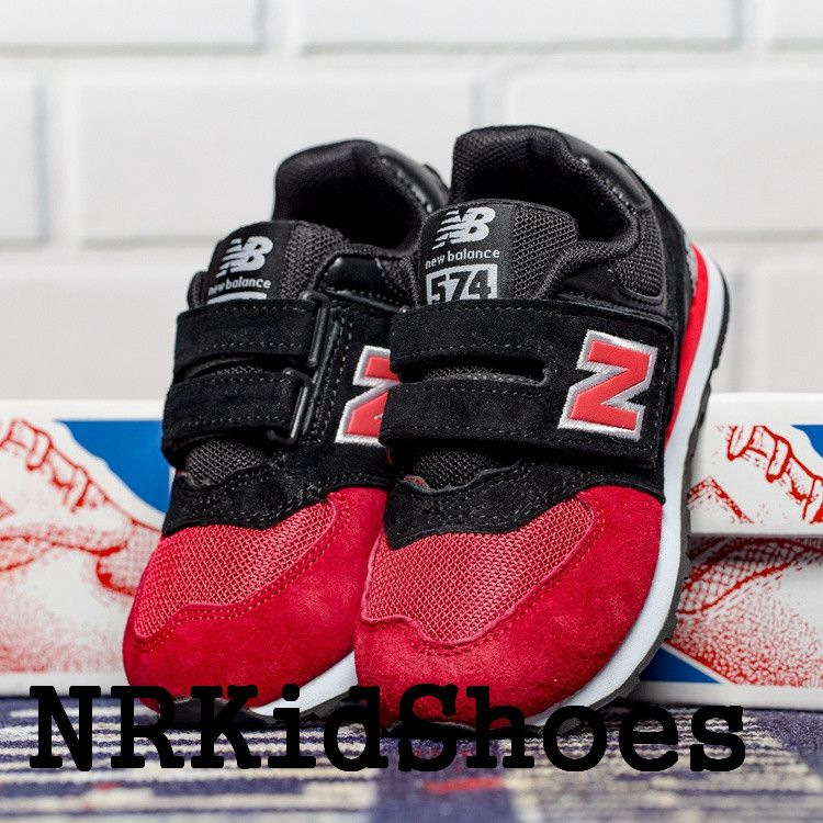 New Balance 574 Kids Shoes Sale Black With Red Size Eur