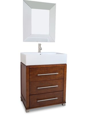 28 inch Grantville Single Bath Vanity is made of solid and has an