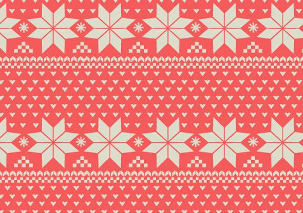 Wrapping Paper | Nordic Print Pattern-Holiday Wrapping Paper ...