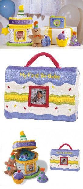 Baby Gund My First Birthday Gift Set Cake Photo Album
