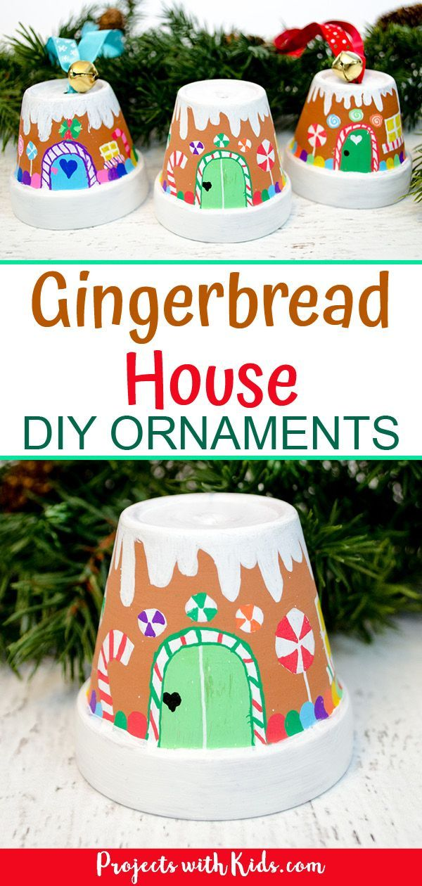 The Sweetest Gingerbread House Ornaments Kids Can Make | Projects with Kids