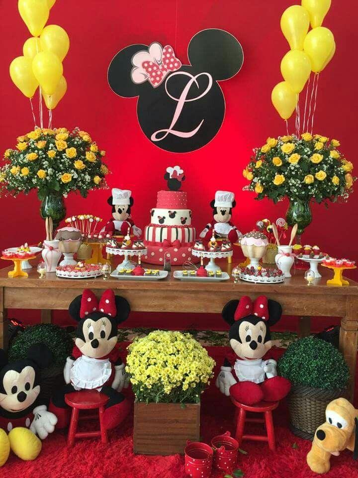Minnie Mouse Birthday Decor Ideas Com Imagens Festa Minnie