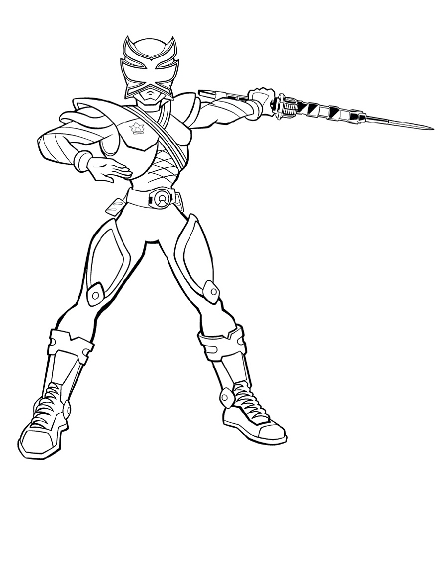 Power Rangers Samurai Coloring Pages in 2020 | Power ...