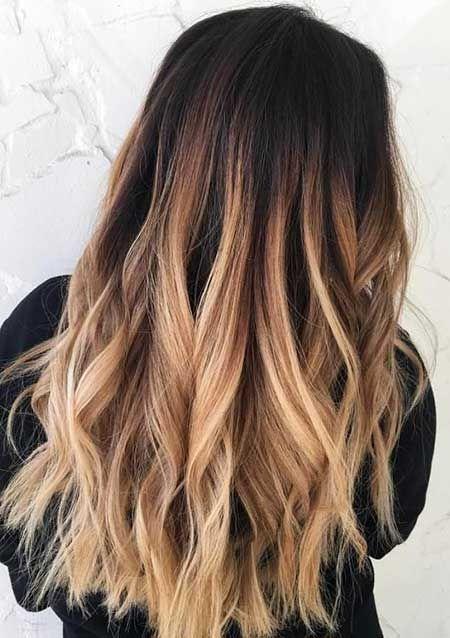 haare färben braun mit blonden strähnen
