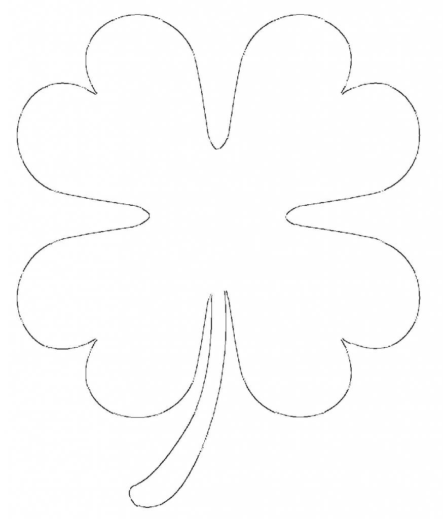 free printable four leaf clover templates u2013 large u0026 small patterns