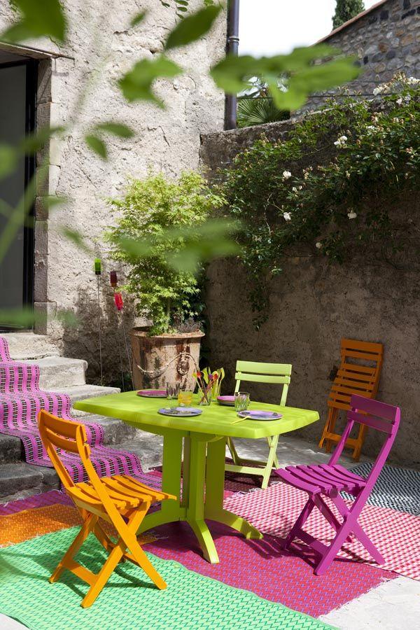 Ensemble de repas coloré en plastique, fabrication française ...