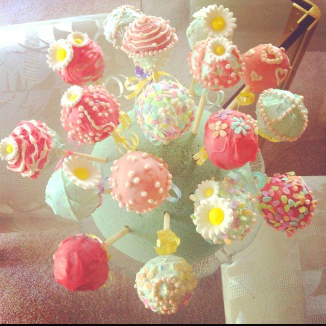Spring Cake Pops For Devon S Birthday With Images Cake Pops