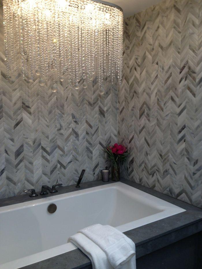 waende gestalten wandgestaltung farbgestaltung muster badezimmer