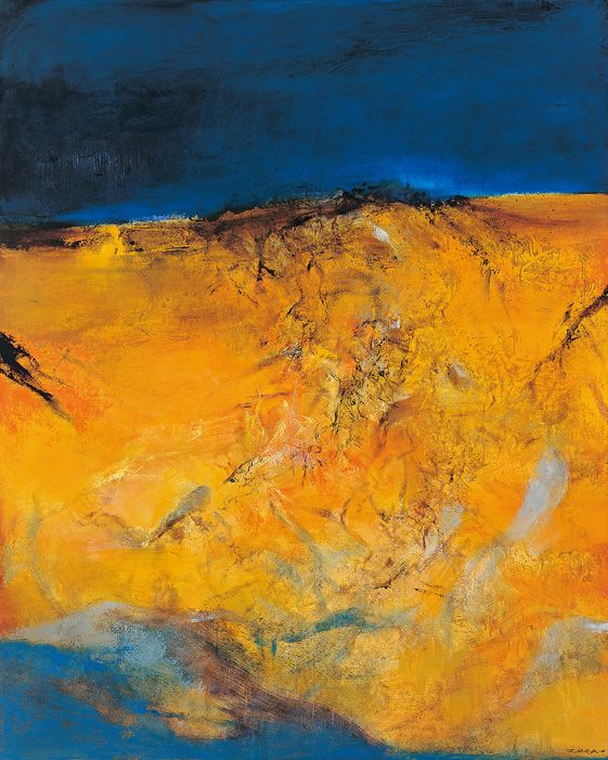 Zao Wou-Ki (1920-2013) ~ Oil on Canvas 1999 ~ 162 x 130 cm