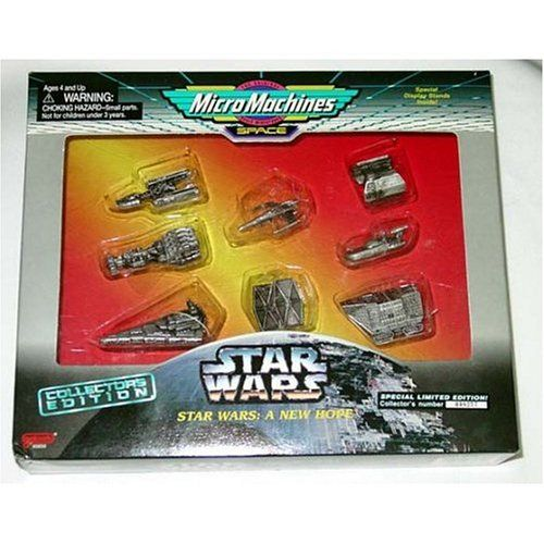 STAR WARS MICRO MACHINES SPACE A NEW HOPE PEWTER 8 PIECE COLLECTORS GIFT SET
