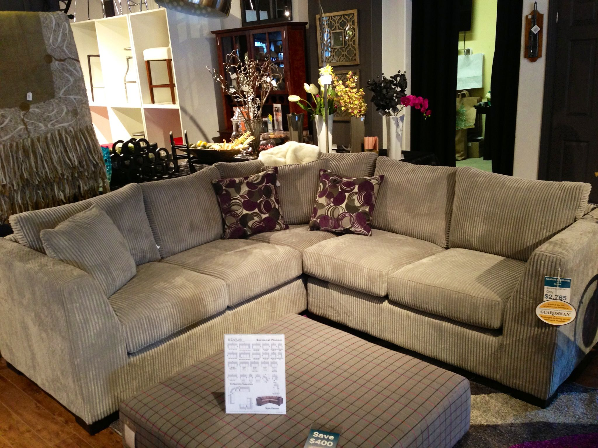 Keaton sofa sectional by Stylus Canadian pany featured at