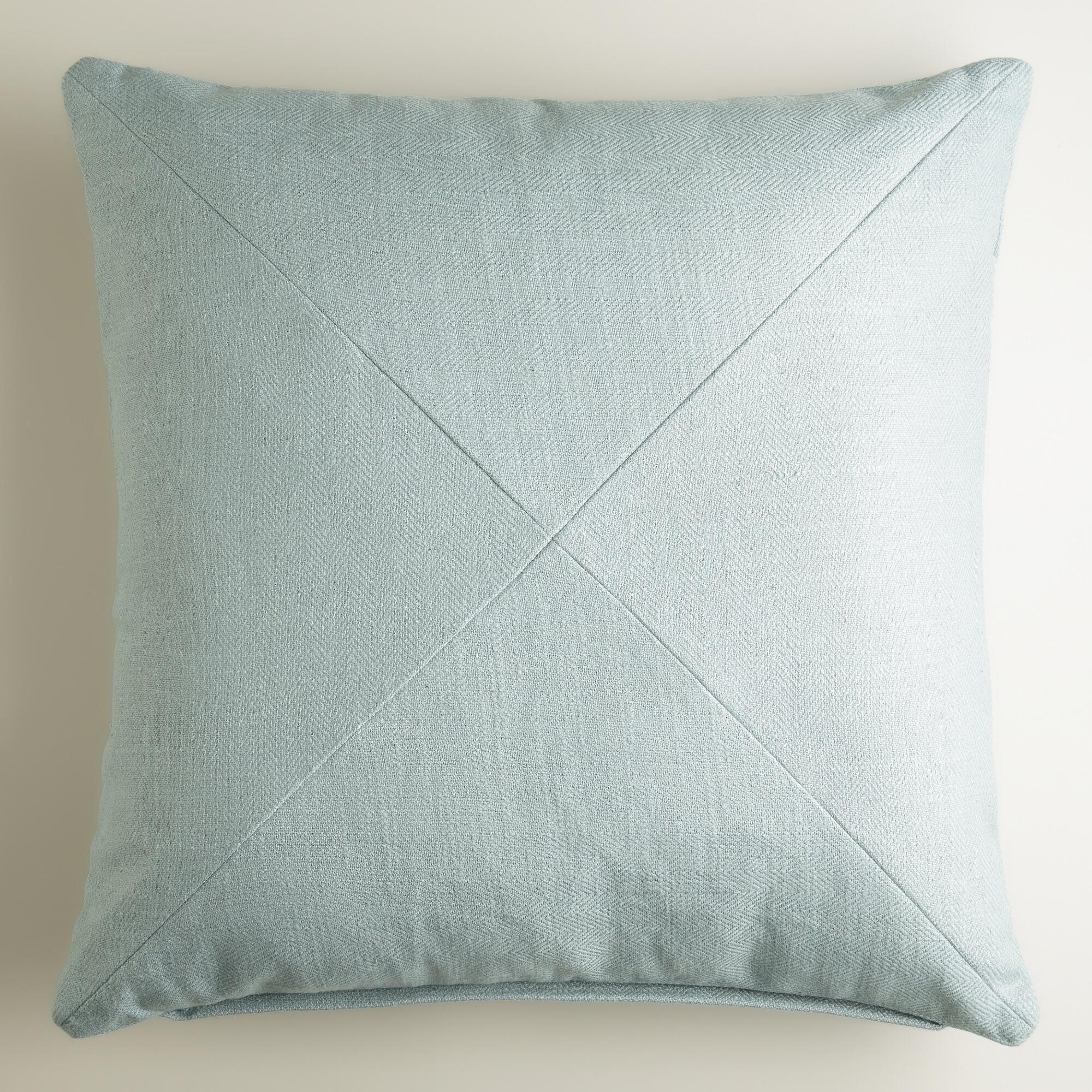 Slate Blue Herringbone Throw Pillow | Herringbone, Slate and Throw ...