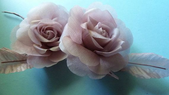 Petite Silk Millinery Rose in Mauve for Floral by MaryNotMartha, $6.25