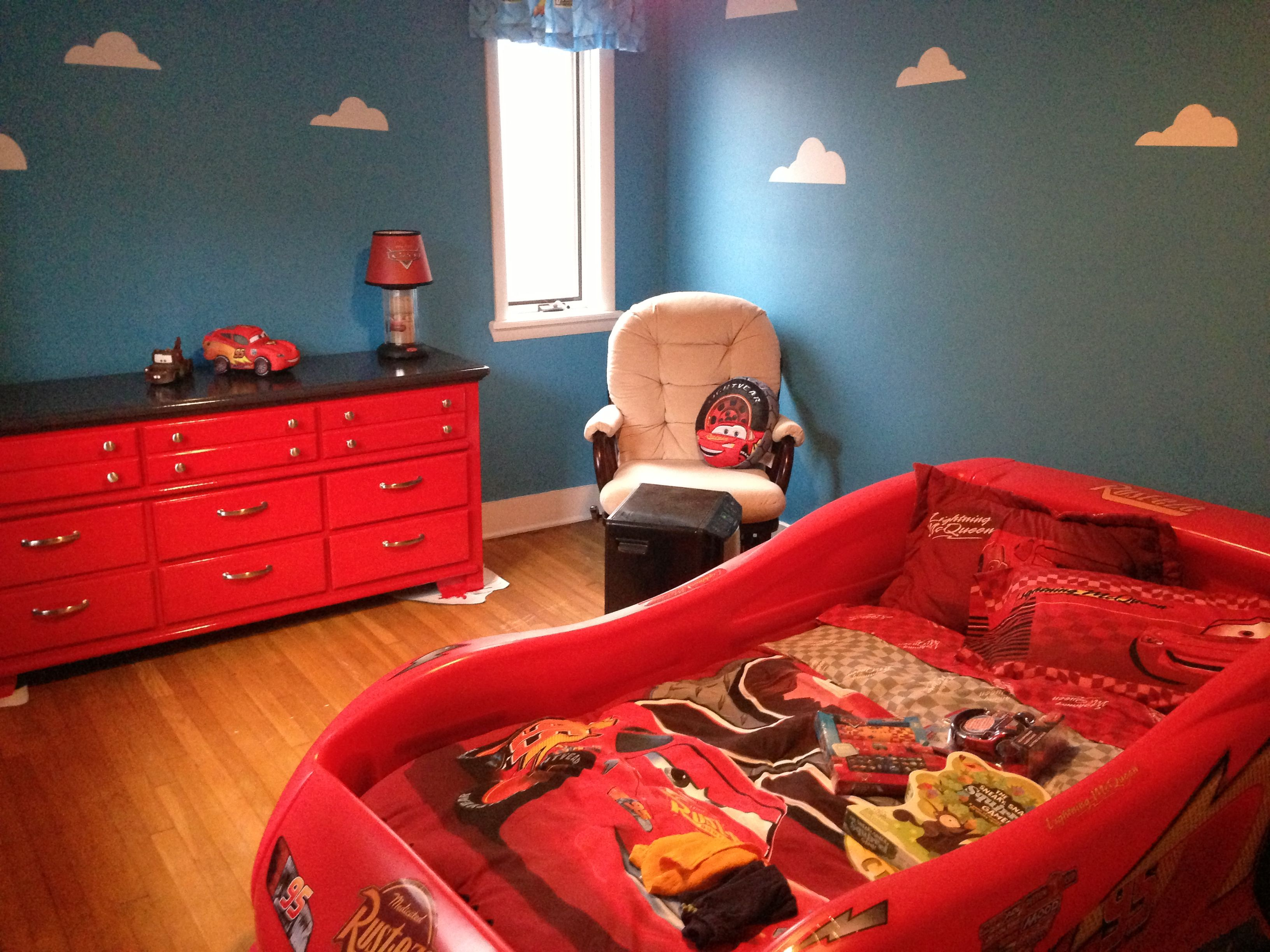 Boys car bedroom ideas - Can T Decide On Cars Vs Toy Story This Would Be A Cute Mix