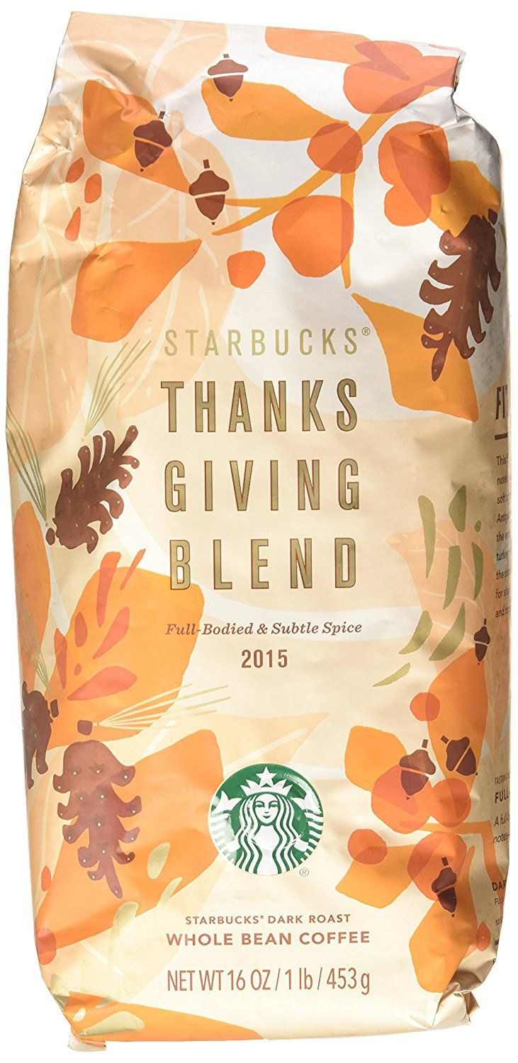 Starbucks Thanksgiving Blend Whole Bean Coffee 1LB (16oz
