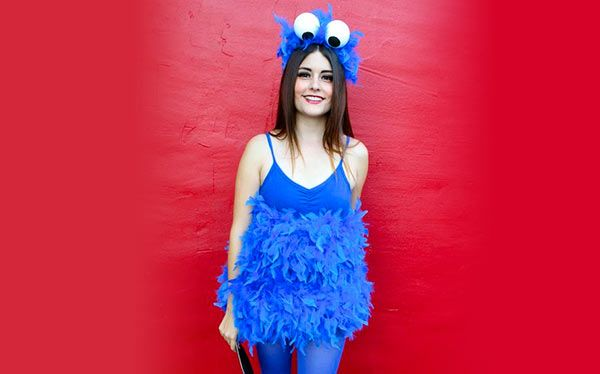 diy cookie monster costume pinterest kost me selber machen kr melmonster und schminkanleitungen. Black Bedroom Furniture Sets. Home Design Ideas