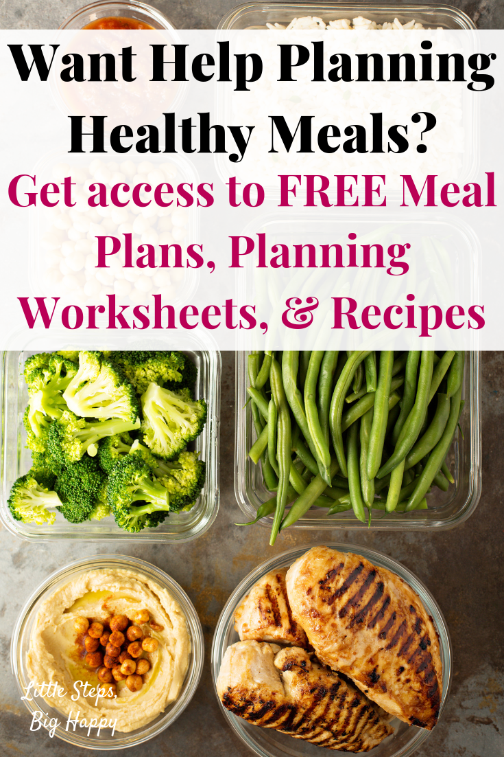 Want help planning healthy meals? Click to get access to my FREE Resource Librar...