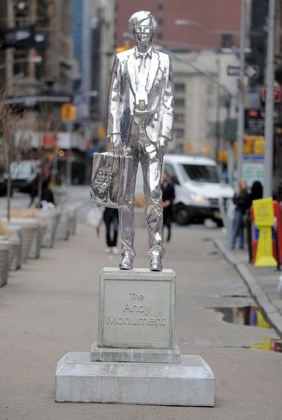 Andy Warhol Statue In New York City | Andy warhol, Art eras, Warhol