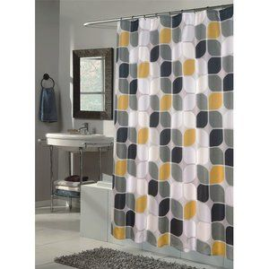 Carnation Home Fashions Metro Extra Long Polyester Fabric Shower Curtain Wf