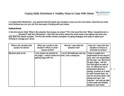 Stress management worksheets \u0026 infographic Coping Skills Worksheets for Adults Infographic Description Stress management techniques Stress management activ