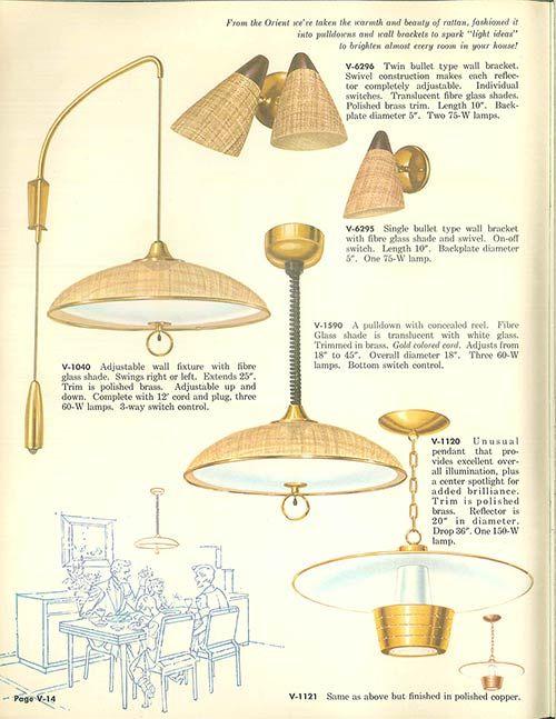 Vintage Virden Lighting 52 Page Catalog From 1959 Trending Decor Mid Century Light Fixtures Retro Renovation