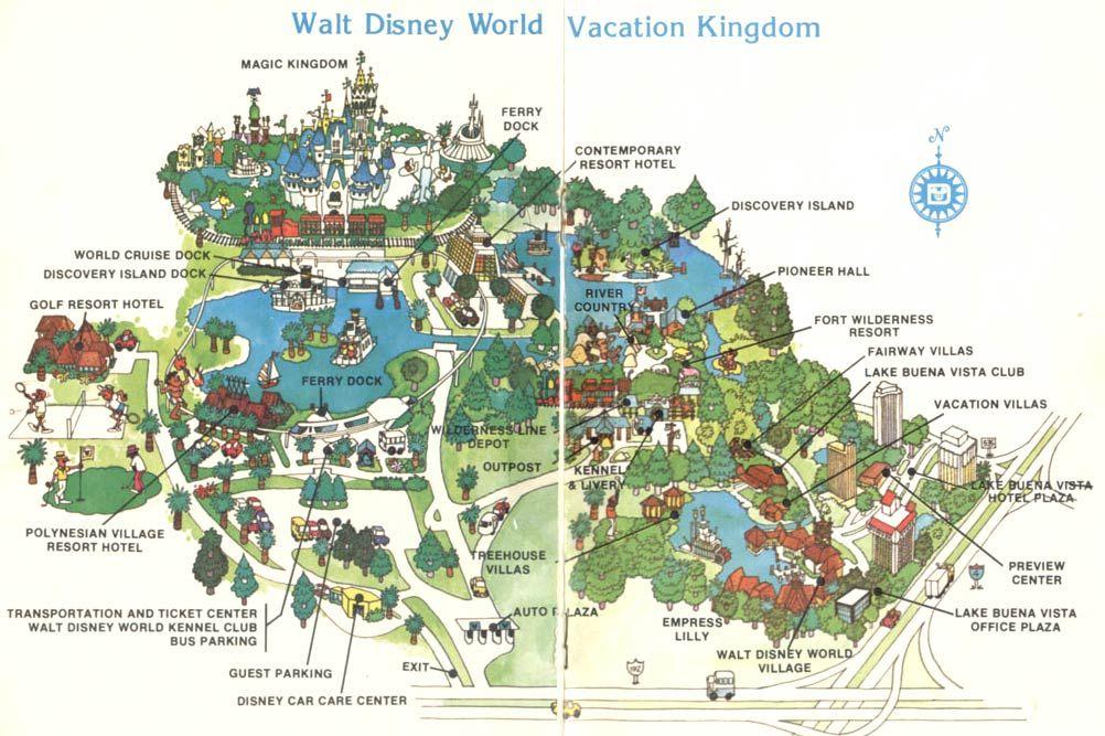 MAP: 1971 Disney World vs. present-day Disney | Blogs | Orlando ...