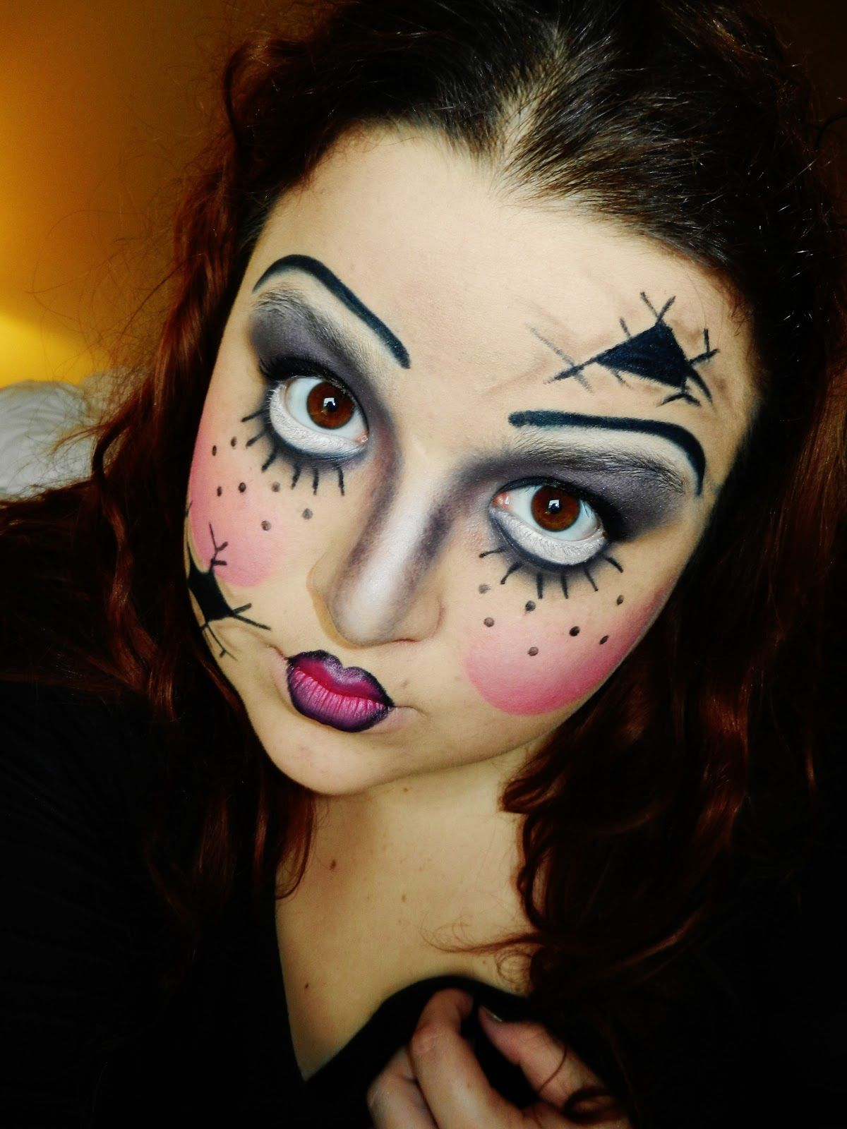 Broken doll makeup tutorial google search doll costume broken doll makeup tutorial google search baditri Image collections
