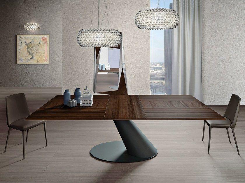 Tavolo allungabile da pranzo rettangolare in legno THOR by Ozzio ...