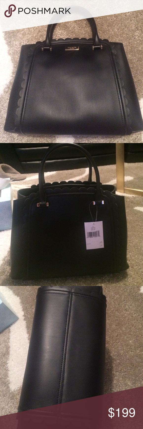 Kat Spade Linzi Maple Court Satchel Brand new! Smooth black leather. Includes shoulder strap. kate spade Bags Satchels