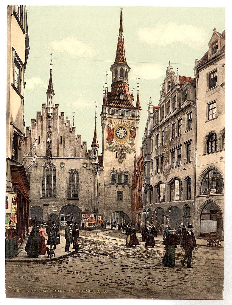 Старинные открытки с изображением городов, для