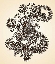 background grid is 1/4 inches Paisley Patterns