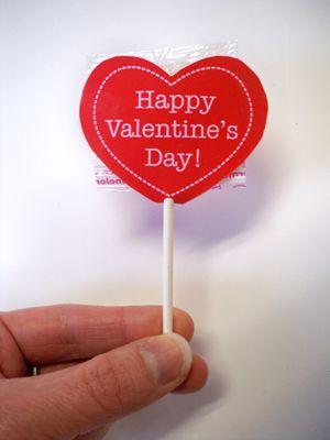 valentine photo lollipops - Valentine Lollipops