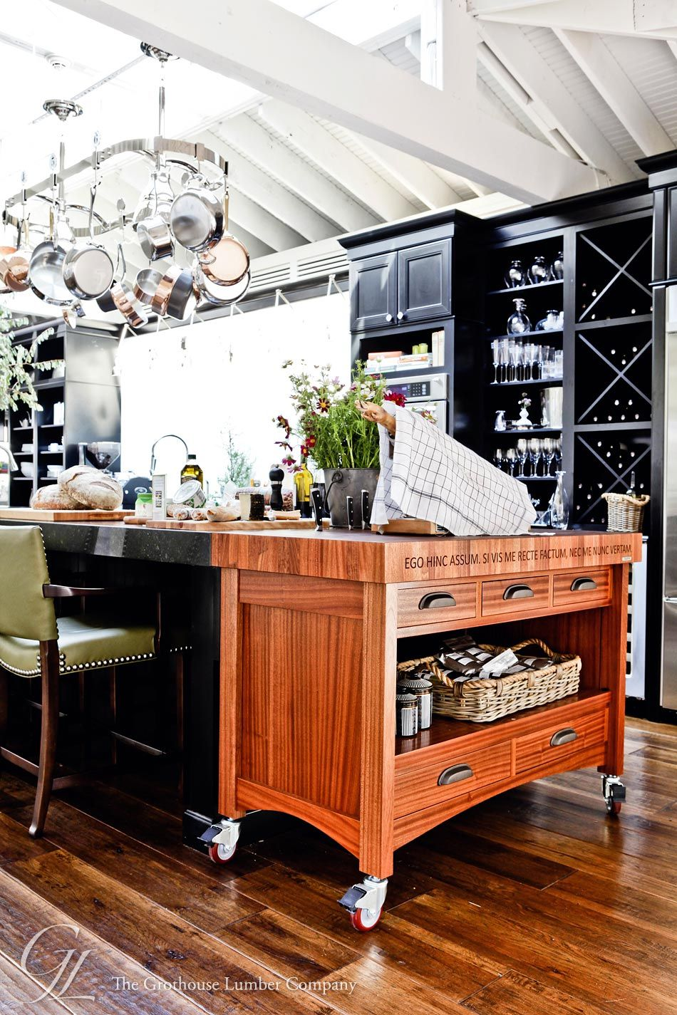 Custom Wood Butcher Block Island Countertops for Kitchens   Kitchen ...