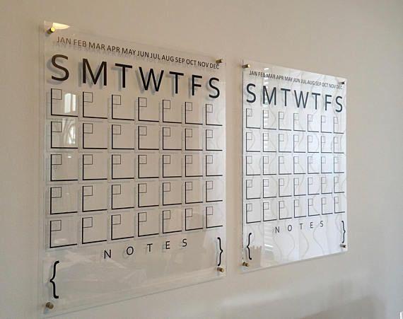 Acrylic Calendar Acrylic Wall Calendar Dry Erase Calendar