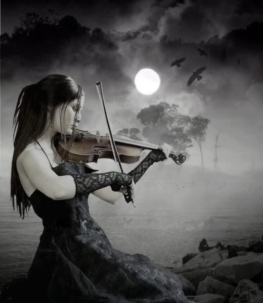 Girl Playing Violin In The Moonlight Girl Playing Violin Relaxing Music Violin