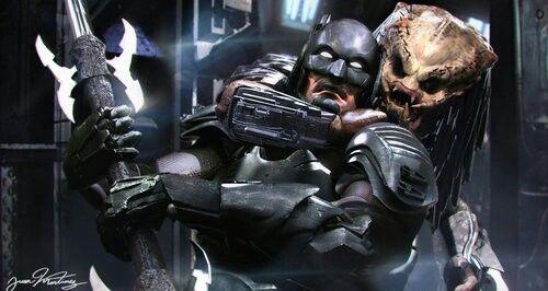 Batman vs. Predator   Artist: Juan Hugo Martinez