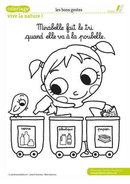 Mirabelle Fait Le Tri Quand Elle Va à La Poubelle Français