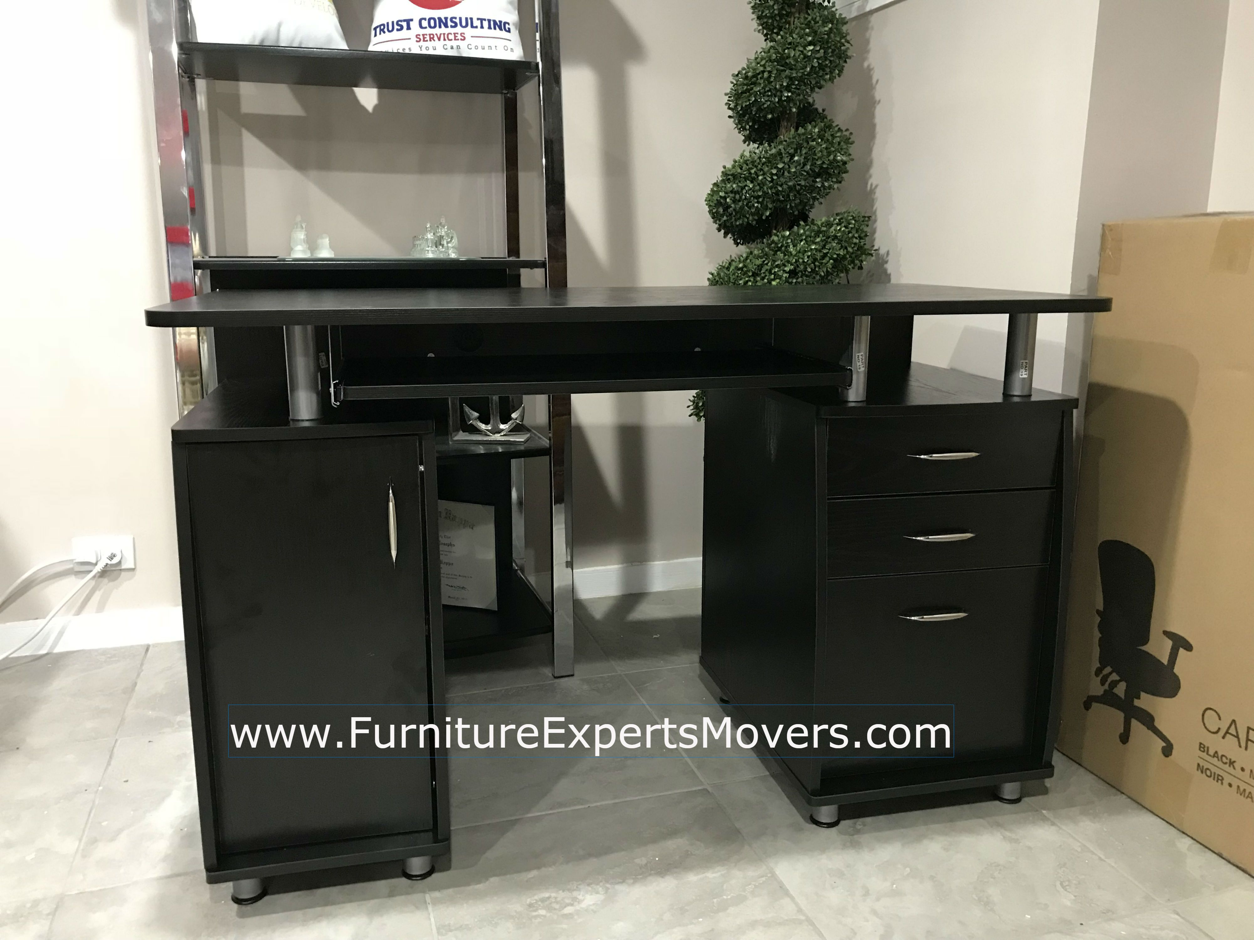 home depot office desk Moving and installation completed