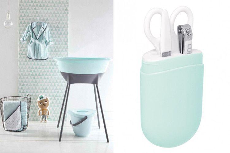 Luma Baby Bath Set In Mint Bathtime Babybath Bathroom