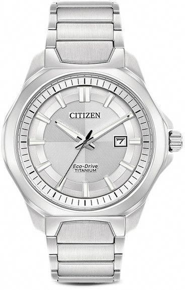 43e80130310 Citizen Men s Eco-Drive Quartz Titanium Casual Watch